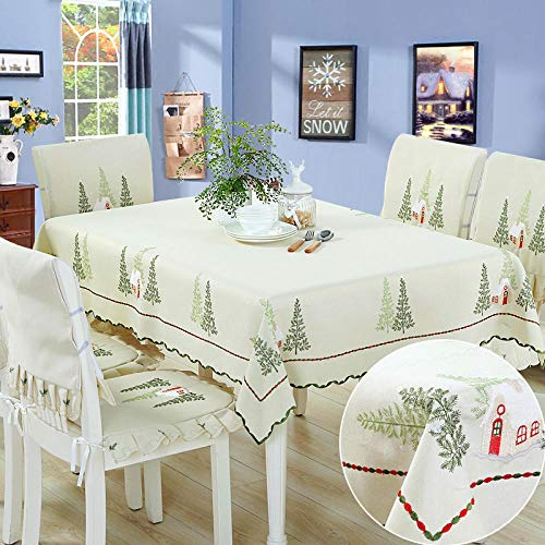 Creek Ywh tafelkleedenset en servetten tafelloper uit Korea, doek, doek, tuindoek, windscherm, tafelkleed, rooster in Brits blauw, 150 x 200 cm, boscabines 110 x 150 cm