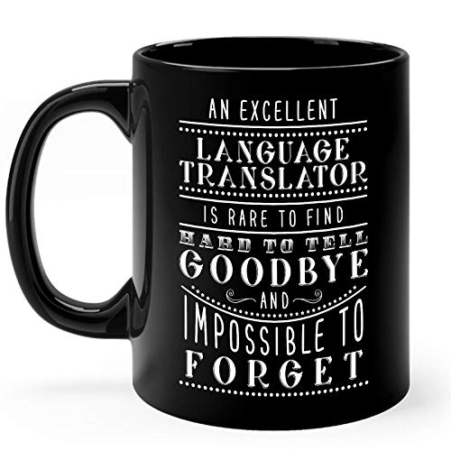 Language Translator Mug Gifts 11oz Black Ceramic Coffee Cup - Language Translator Rare To Find Mug