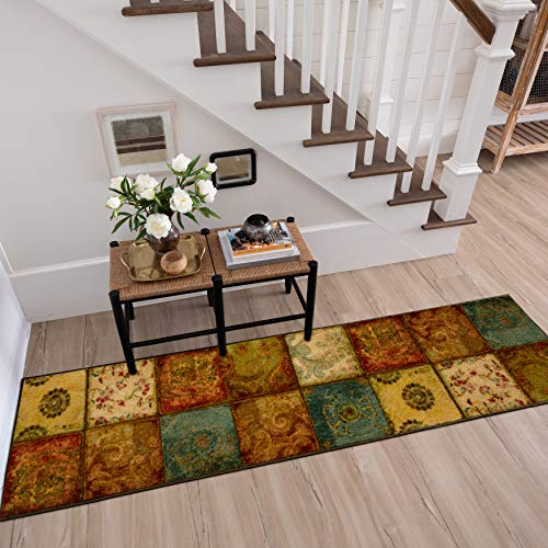 Mohawk Home Free Flow Artifact Panel Patchwork Runner Area Rug, 2'x5', Multi