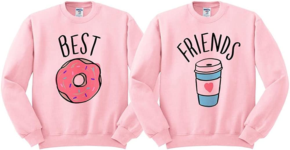 Best Friends Donut Coffee Duo Sweatshirt Unisex