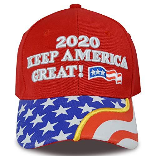 GEOOG Donald Trump 2020 coleccionables Hacer liberales Llorar de Nuevo Snapback del Sombrero de Camo Gran Maga Sombrero de béisbol Ajustable de algodón,Rojo