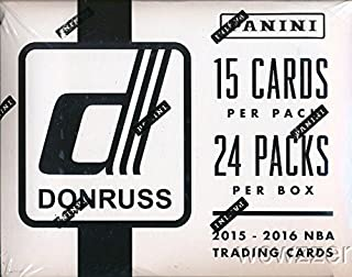 2015/2016 Panini Donruss NBA Basketball MASSIVE 24 Pack Factory Sealed FAT PACK Box with 360 Cards! Look for Rookies & Autographs of Karl-Anthony Towns, Kristaps Porzingis, D'Angelo Russell & More!