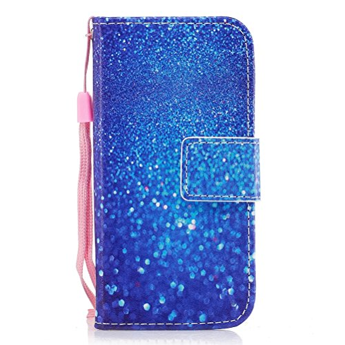 Preisvergleich Produktbild EUWLY Kompatibel mit Galaxy J5 2017 Handyhülle Luxus Muster Bookstyle LederHülle Brieftasche Ledertasche Klappbar Handy Tasche Leder Flipcase Handycover, Blau Glänzend Strass