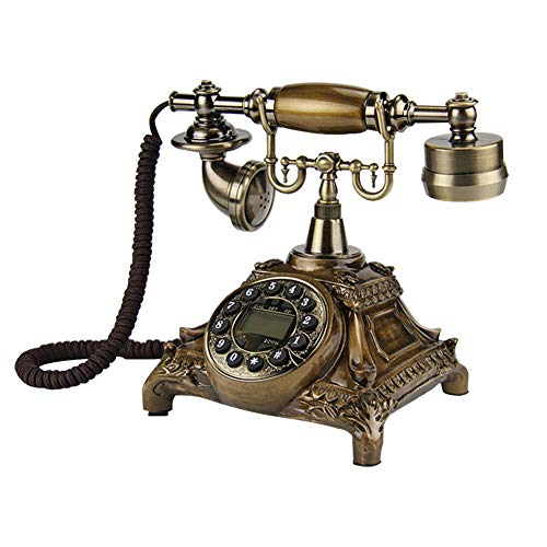 lennonsi Rotary Dial Telephone Classic Corded Retro Antique Landline Phones With Classic Metal Bell Hands-free And Redial Function For Home Decor