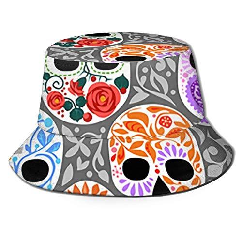 Lawenp Unisex Adulto Sombrero de Pescador Hueso de crneo Sombrero de Sol para Hombre Sombrero de Cubo para el Sol Proteccin UV Gorra de Pescador Senderismo al Aire Libre Pesca Camping Playa
