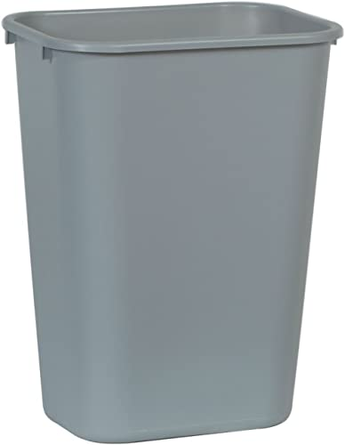 "Rubbermaid Commercial 2957 LLDPE 10-Gallon Deskside Large Trash Can, Rectangular, 11"" Width x 15-1/4"" Depth x 19-7/8""..."