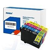 PERSEUS Cartucce d'Inchiostro Compatibile per Epson 502XL Multipack, Trabajar con WF-2860DWF WF-2865DWF, Expression Home XP-5100 XP-5105 Stampante, 502 XL Nero/Ciano/Magenta/Giallo