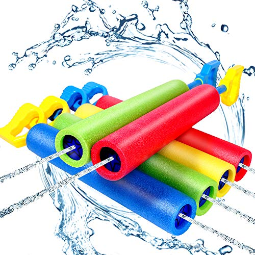 6 Pack Foam Water Shooter, Water Guns Toys Water Blaster for Swimming Pool Beach Summer Outdoor, Water Squirt Guns Set Up to 31ft for Boys Girls Adults