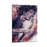 HZHI Carlos Santana Celebrity Painting Vintage Poster