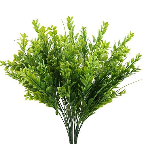 XHXSTORE 2pcs Künstliche Pflanzen Draußen Kunstpflanzen Balkon Plastikpflanzen Künstliche Farn Grünpflanzen Unechte Pflanzen für Topf Balkon Garten Badzimmer Küche Zuhause Frühling Deko