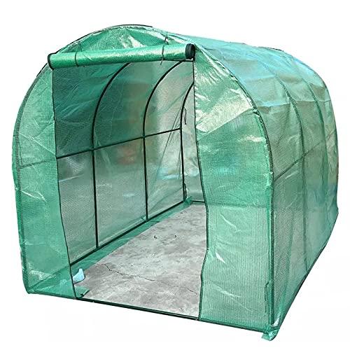 Invernaderos jardin plastico huerto terraza Exterior Grande Invernadero con marco de acero...