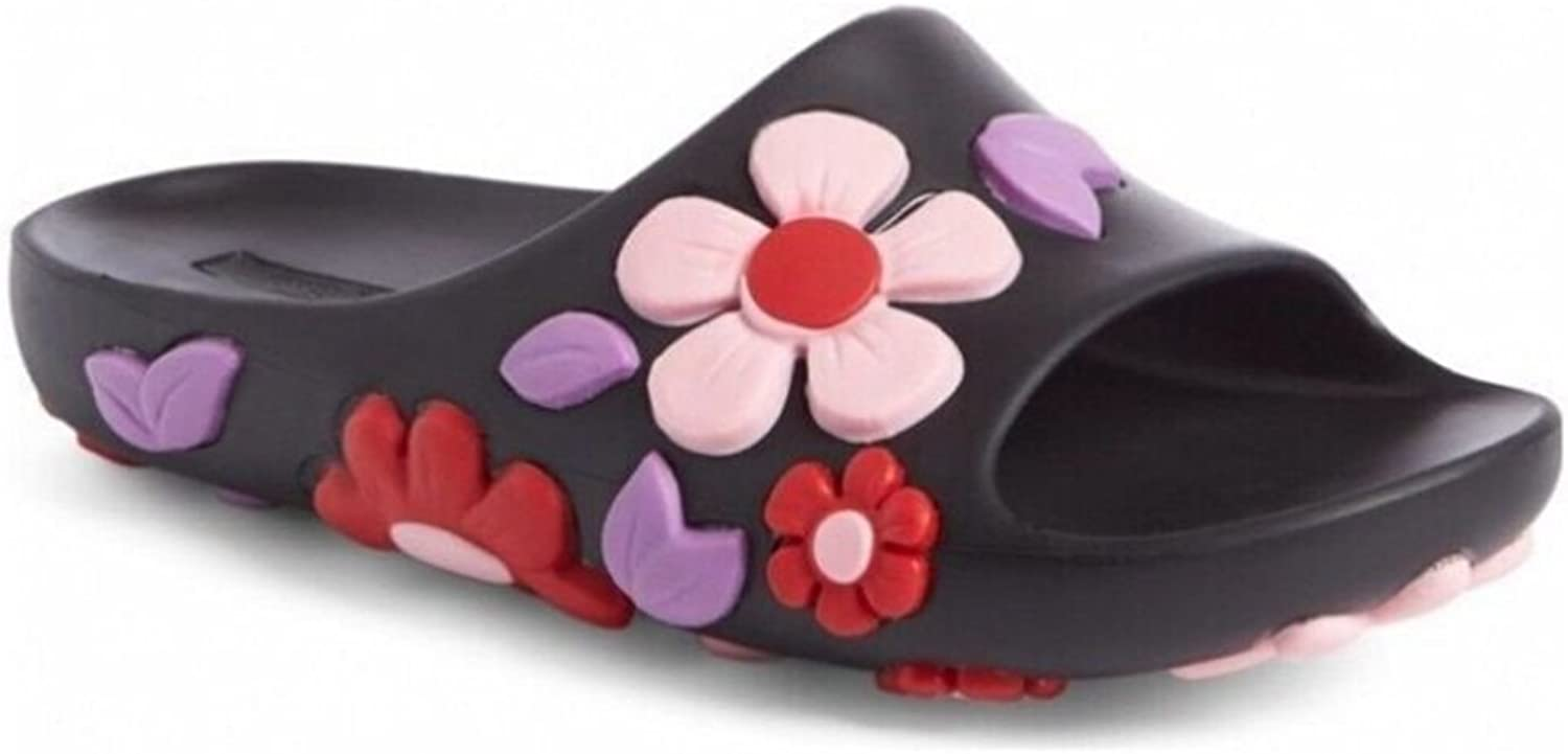 Ouying Original Vacation Flower Beach Non-Slip Beach Flat Slippers Red
