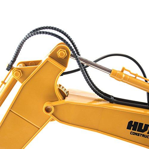 RC Auto kaufen Baufahrzeug Bild 6: efaso 1:14 RC Bagger 1550 - 2,4 GHz Baustellenfahrzeug mit Licht und Sound, Schaufel aus Metall, Aufnahmemodus und umfangreichen Steuerungsmöglichkeiten*