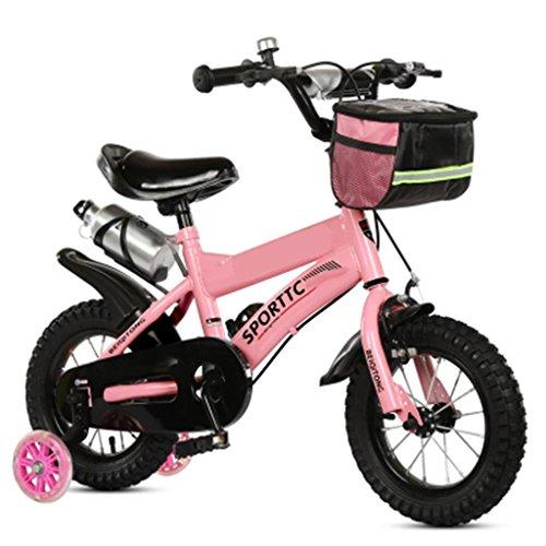 Les vélos d'enfants 12/14/16/18/20 Pouces bébé Mountain Bike Cadeau créatif Mode Mignon garçon Fille réglable Rose Rouge (Couleur : #1, Taille : 14 inches)