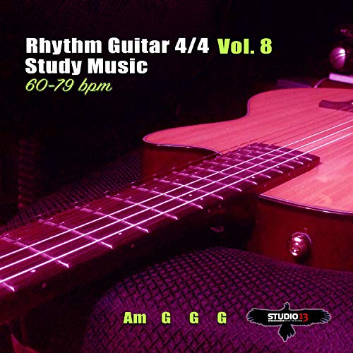 Rhythm Guitar 4/4 Am G G G 60 bpm Pt.1 Vol.8