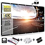 Best Portable Projection Screens - Mdbebbron 120 inch Projection Screen 16:9 HD Foldable Review