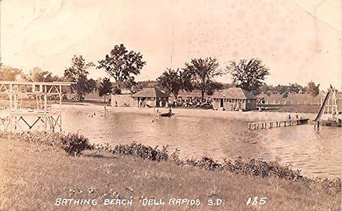 unisex Bathing Beach Dell Arlington Mall Rapids South postcard Dakota