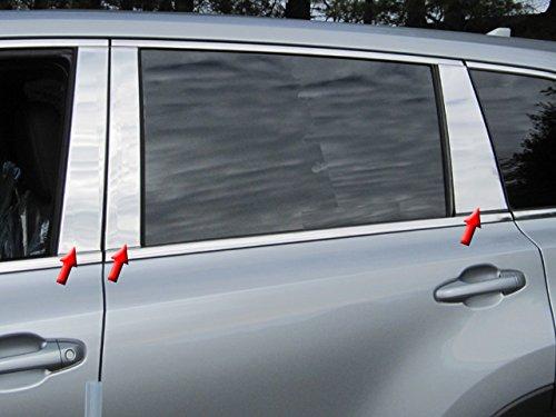 QAA fits 2014-2019 Toyota Highlander 6 Piece Stainless Pillar Post Trim PP14111