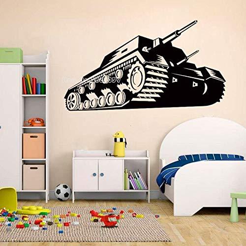 wZUN Tanque Pegatinas de Pared Militar ejército Guerra Tema Vinilo calcomanías guardería niños Dormitorio decoración de la Pared del hogar 67X38 cm