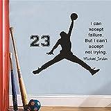 Puedo aceptar el fracaso Michael Jordan cita pegatinas de pared calcomanías de arte para el hogar sa...