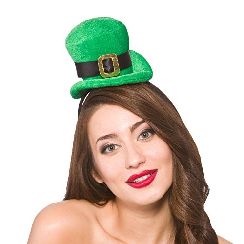 Adult Mini St Patricks Day Hat Band Fancy Dress Accessory Leprechaun Irish Green