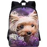 RomantiassLu Mochilas para niños Mochila escolar impresa en 3D dog backpack for kid Mochila para portátil para adolescentes niño niña camping y senderismo mochilas 16inch Mochila animal lindo