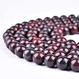 Yuncai 4mm 95PCS Brecciated Jasper Natural Gemstone Round Loose Gems Energy Stone Healing Power Stone Beads for Jewelry Bracelets Necklace Craft Making