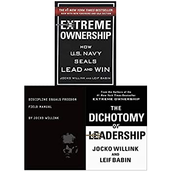Jocko Willink Collection 3 Books Set  Extreme Ownership Dichotomy of Leadership and Discipline Equals Freedom