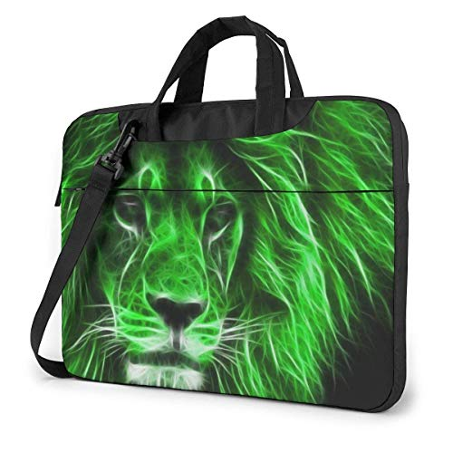 Green Cool Lion Unisex Laptop Bag Messenger Shoulder Bag For Computer Briefcase Carrying Sleeve