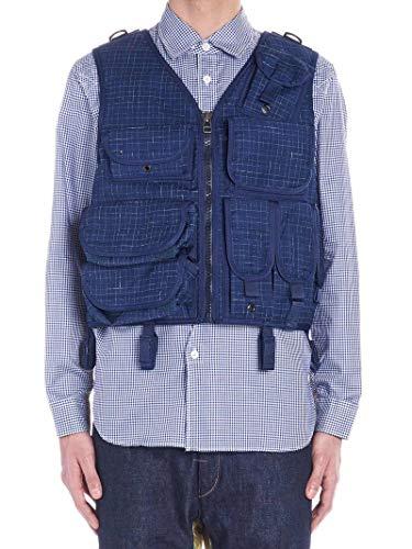 Luxury Fashion | Junya Watanabe Heren WCK2280511 Donkerblauw Wol Gilets | Herfst-winter 19