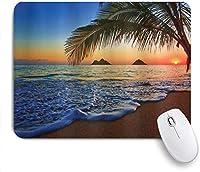 """ゲームマウスパッド、パシフィックサンライズラニカイビーチハワイカラフルスカイウェーブオーシャンサーフェイスシーン、9.5"""" x7.9""""ノンスリップゴムバッキングマウスパッド(ノートブックコンピューターマウスマット用) 25x30cm"""