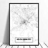 Drucken Malerei Bilder,Ho Chi Minh City, Vietnam Schwarz