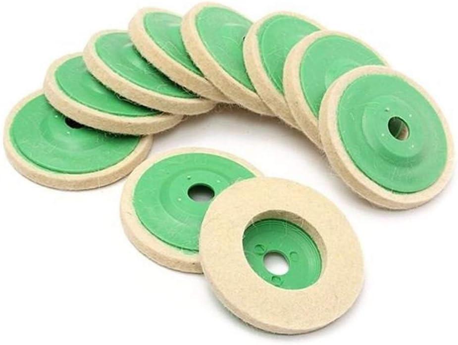 Aohi WXQ-XQ 10pcs 100mm excellence [Alternative dealer] Round Wool Felt Buffing Polishing Wheel