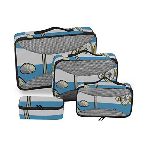 Organizador del Cubo de Embalaje Herramientas de Aparejos de Pesca pequeños y Hermosos Organizadores de Embalaje para Viajes Cubos de Embalaje Organizador de Equipaje de Viaje Organizador de Maleta d