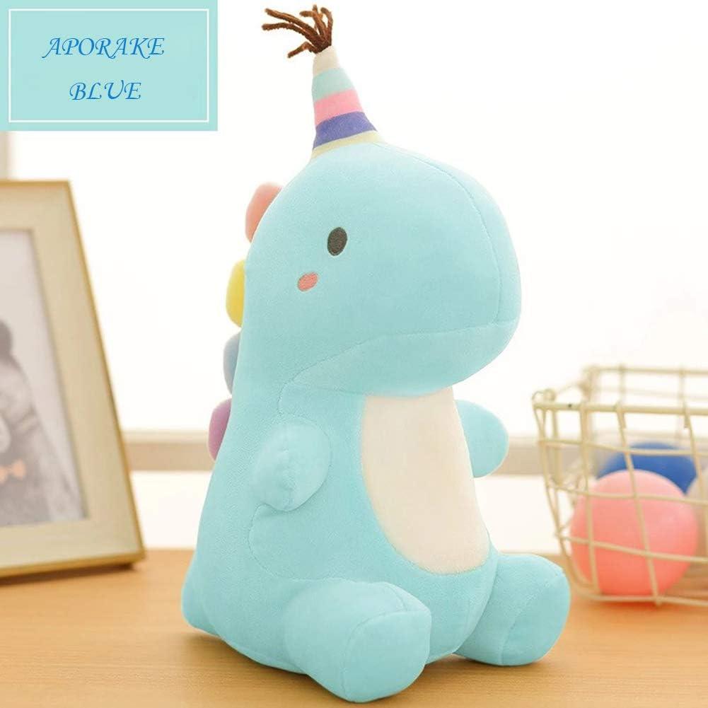 Stuffed Animal Plush Toys Cute Dinosaur Toy Soft Plushies for Girls Plush Doll Gifts for Kids Boys Babies Toddlers Blue, Medium