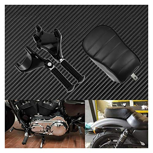 Reposapiés Motocicleta para Harley Sportster Iron 883 XL883N 2016-2020 Motorcycle Black Trasero Passenger Pad Asiento De La Almohadilla De Pasajeros Trasero PEGS PIETS Pedal Montaje Kit