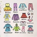 TOYANDONA Cajonera para niña extraíble, ropa, etiquetas, c