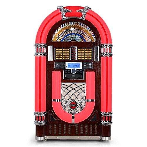 Audiola Majestic JB 3710TT Jukebox (Rockabilly Jukebox Estilo Retro, conexión...