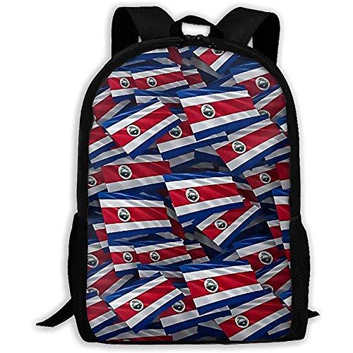 Bookbag Costa Rica Flag Bookbag Girls Casual Bolsa De Viaje Mochila Teen School Boys