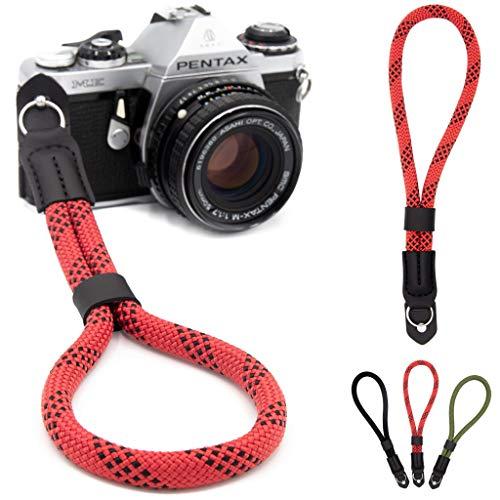 Lens-Aid Handschlaufe in Seil-Optik für Kamera: Kameragurt fürs Handgelenk geeignet für Canon, Nikon, Sony, Fujifilm, Olympus, Pentax, Leica etc.