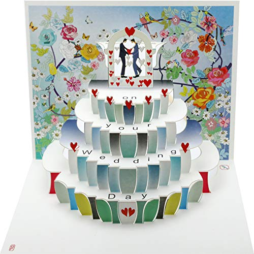 Forever Hochzeit Pop Up 3D Laser Karte Grußkarte Schwulen MR & Mr Pavillon 16x11cm