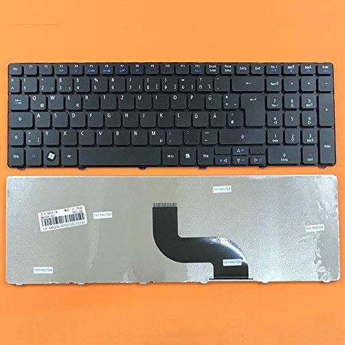 Preisvergleich Produktbild kompatibel für Acer Aspire 7750,  7750G Tastatur - Farbe: Schwarz - Deutsches Tastaturlayout