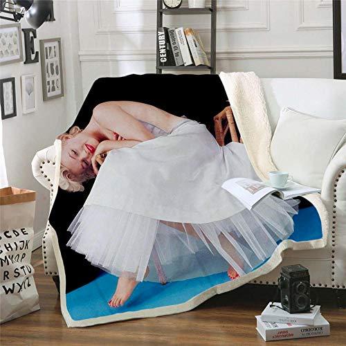 RGBVVM Manta Bailarina Manta Suave y mullida, Manta de Felpa Ligera, cálida, cómoda y Duradera, Adecuada para sofá/Silla/Cama Manta de Franela 150x200 cm