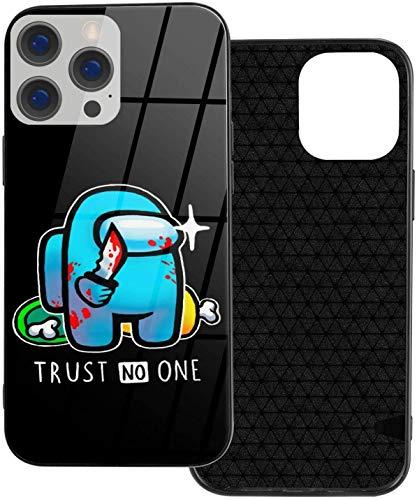 Among Us iPhone 12 Pro Funda, Slim TPU & Galss Funda protectora compatible con iPhone 12 Pro/iPhone 12/iPhone 12 Mini/iPhone 12 Pro Max