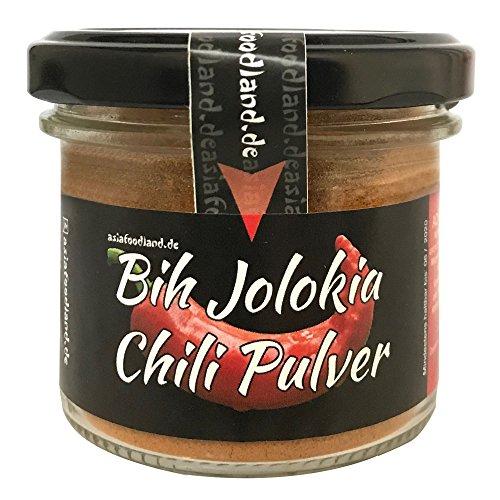 Asiafoodland Bih Jolokia Chili Pulver - eines der schärfsten der Welt! - 800.000 Scoville - 50g