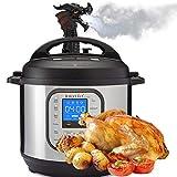 Instant Pot Dragon Steam Diverter, Fire-Breathing Original Steam Release Accessory Steam for Pot Pressure Cooker Kitchen SuppliesDiverter (Black)