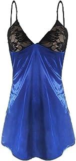 Women Solid Comfortable Nightdress ❀ Ladies Plus Size Babydoll Lace Silks Lingerie Underwear Sleepwear