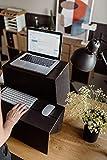 ROOM IN A BOX Stehschreibtisch Monkey Desk Medium/Natur: Faltbares ergonomisches Stehpult, praktischer Ständer für Laptop, PC, Tablet und Monitor, klappbarer Standing Desk für den Schreibtisch - 5