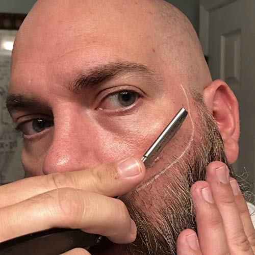 Brink: The Clean Edge – Beard Shaping Tool, Beard Shaper, Beard Guide, Hair Trimmer Stencil