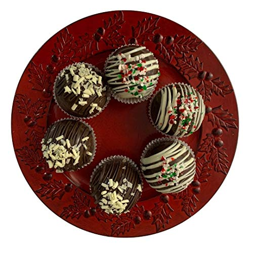 Hot Chocolate Cocoa Bombs Fill with Marshmallows ,Gourmet Chocolate ,Trending Hot Chocolate Bombs The Christmas Candy , Hot chocolate cocoa bombs ,Hot chocolate sphere 3 inch each (6 count )BIG SIZE